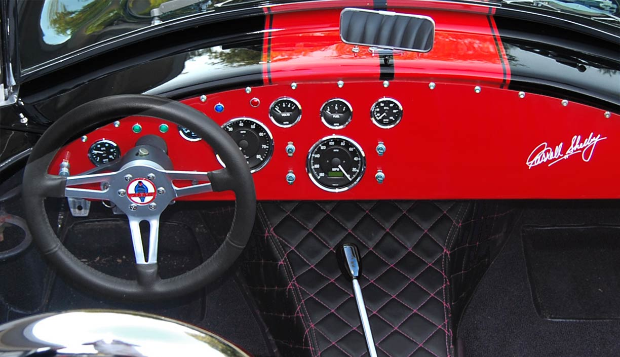 dashboard shot#1 of black/red stripes 427SC Shell Valley classic Cobra for sale by owner