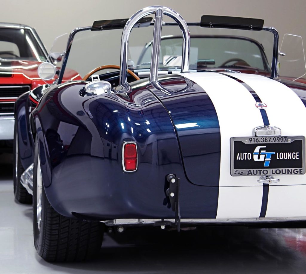 rear-quarter (driver side) photo of 35th Anniversary Blue Shelby 427SC Cobra for sale, CSX4059