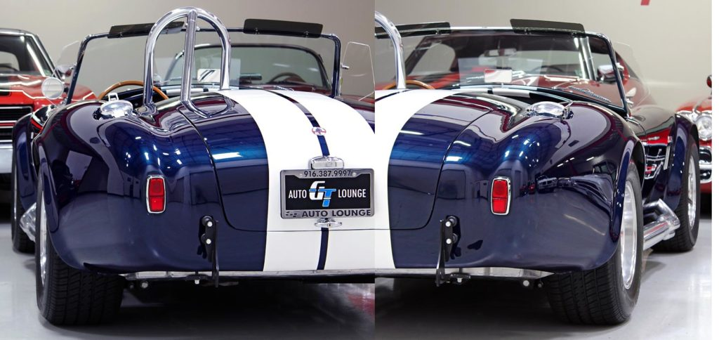 duplex (composite) rear-quarter photo of 35th Anniversary Blue Shelby 427SC Cobra for sale, CSX4059