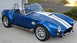 3/4-frontal thumbnail image of Speedway Blue Backdraft Racing 427SC Shelby classic Cobra for sale, BDR757