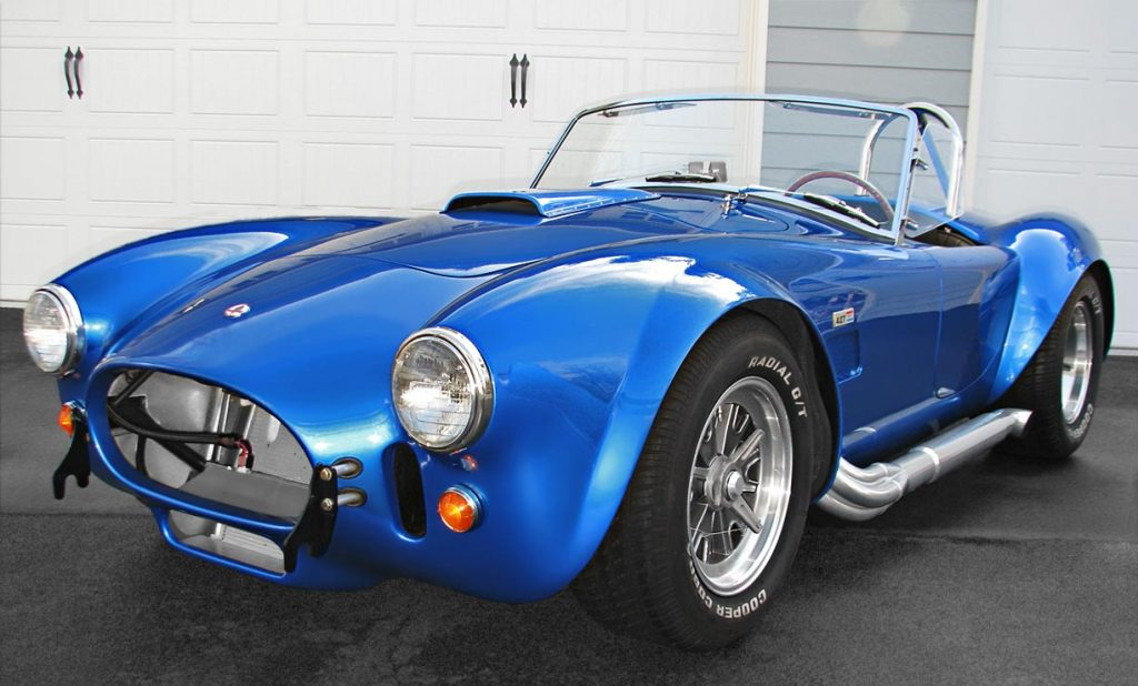 3/4-frontal photo (driver side) of Intense Blue Pearl Shelby 427SC Cobra for sale, CSX6045