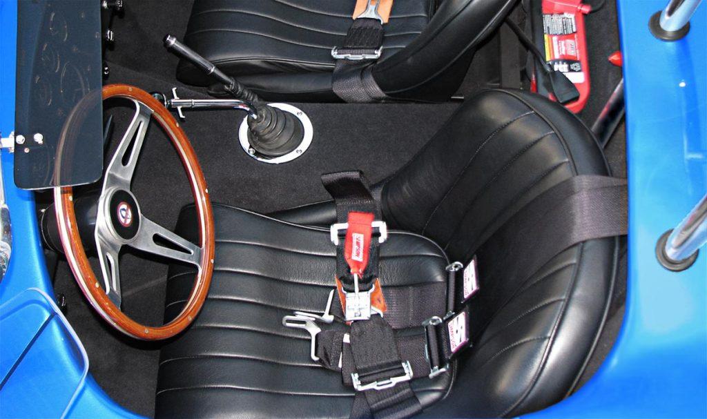 overhead cockpit photo of Intense Blue Pearl Shelby 427SC Cobra for sale, CSX6045