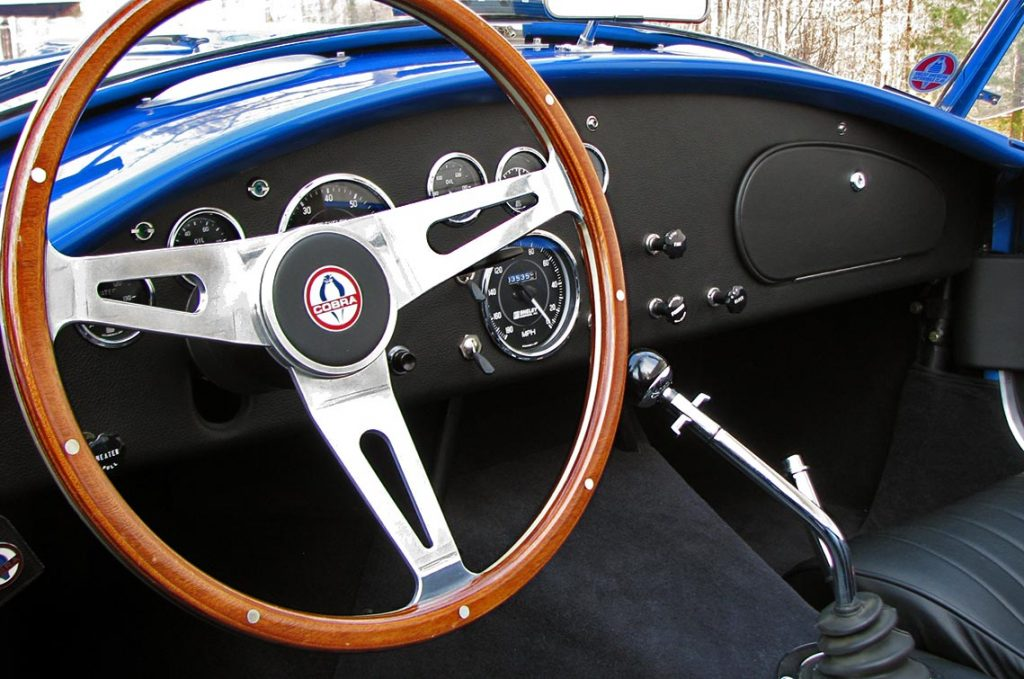 dashboard photo of Intense Blue Pearl Shelby 427SC Cobra for sale, CSX6045