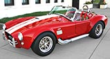 3/4-frontal thumbnail-sized view (driver side) of Ford Victory Red classic Shelby 427SC Cobra by Hi-Tech Motorsports for sale