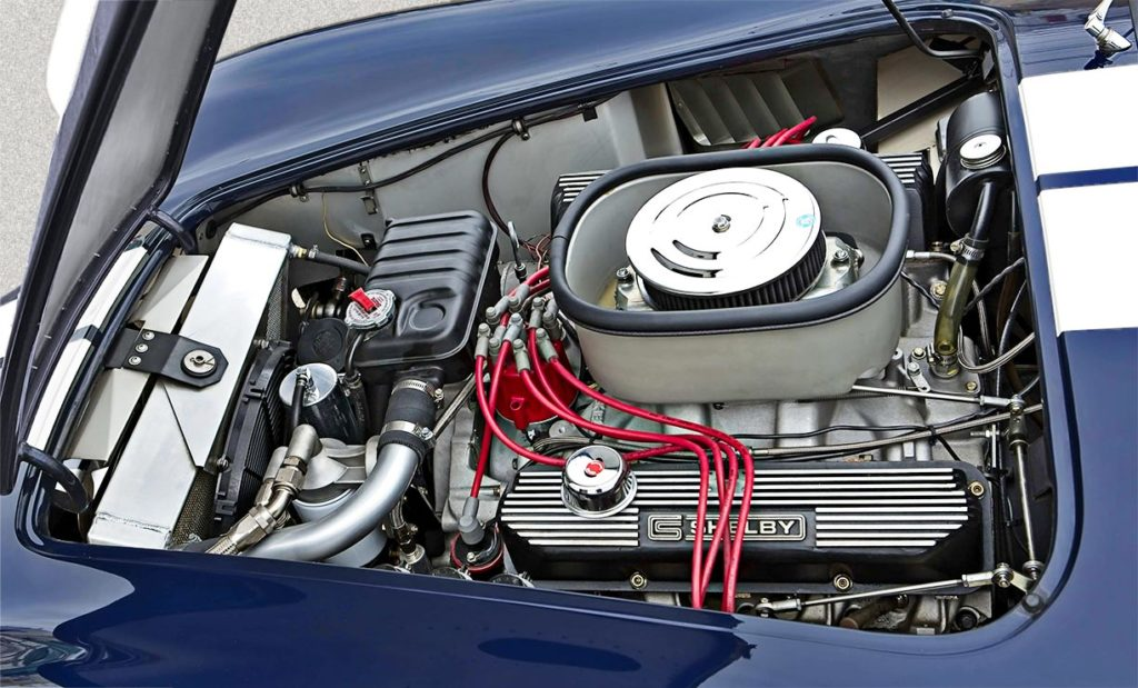 photo of Ernie Elliott aluminum-block 427 V8 in Nightwatch Blue 427SC Shelby Cobra for sale, CSX4373