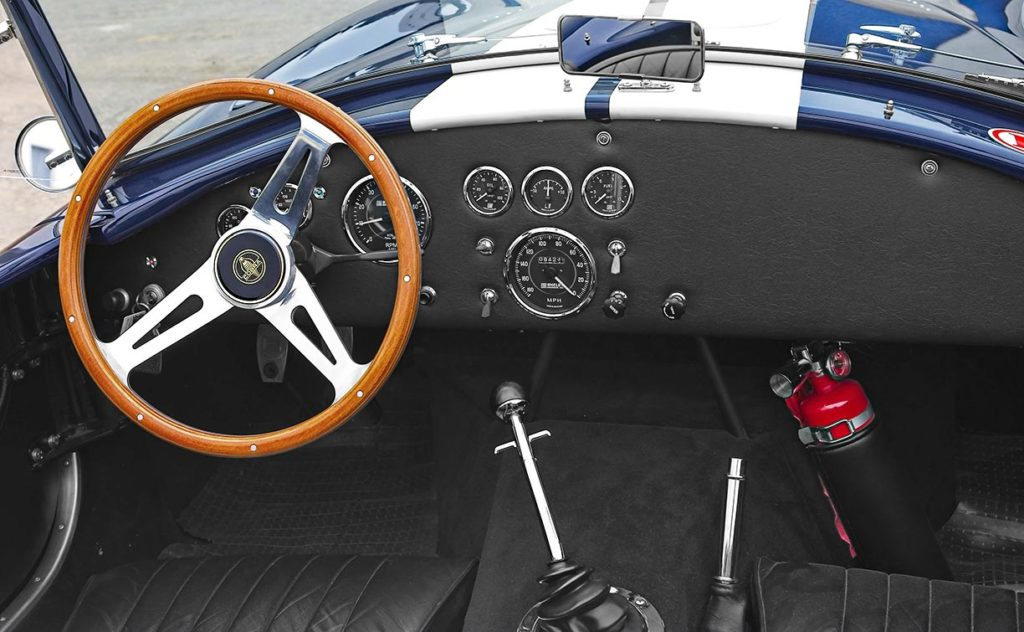 dashboard shot#1 of Nightwatch Blue 427SC Shelby Cobra for sale, CSX4373