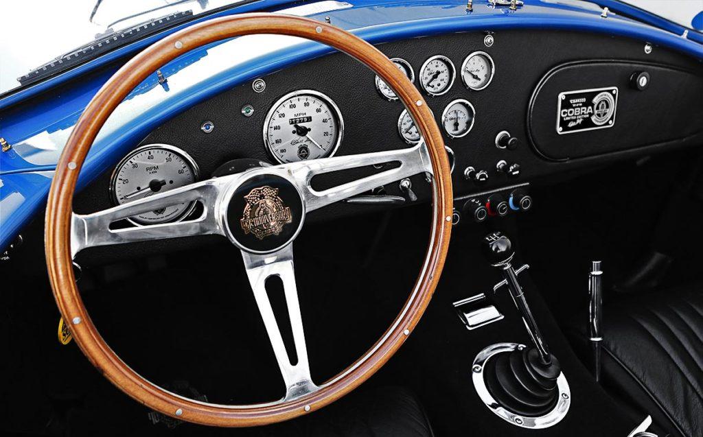 dashboard photo#1 of 40th Anniversary Shelby American classic 427 Cobra for sale, Anniversary Blue, CSX4333