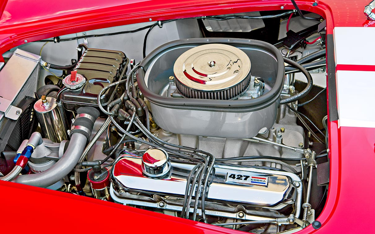 photo#2 of 427FE center-oiler in McDonald Red 427SC Shelby classic 427S/C Cobra for sale by HRE Motorcars, CSX4297