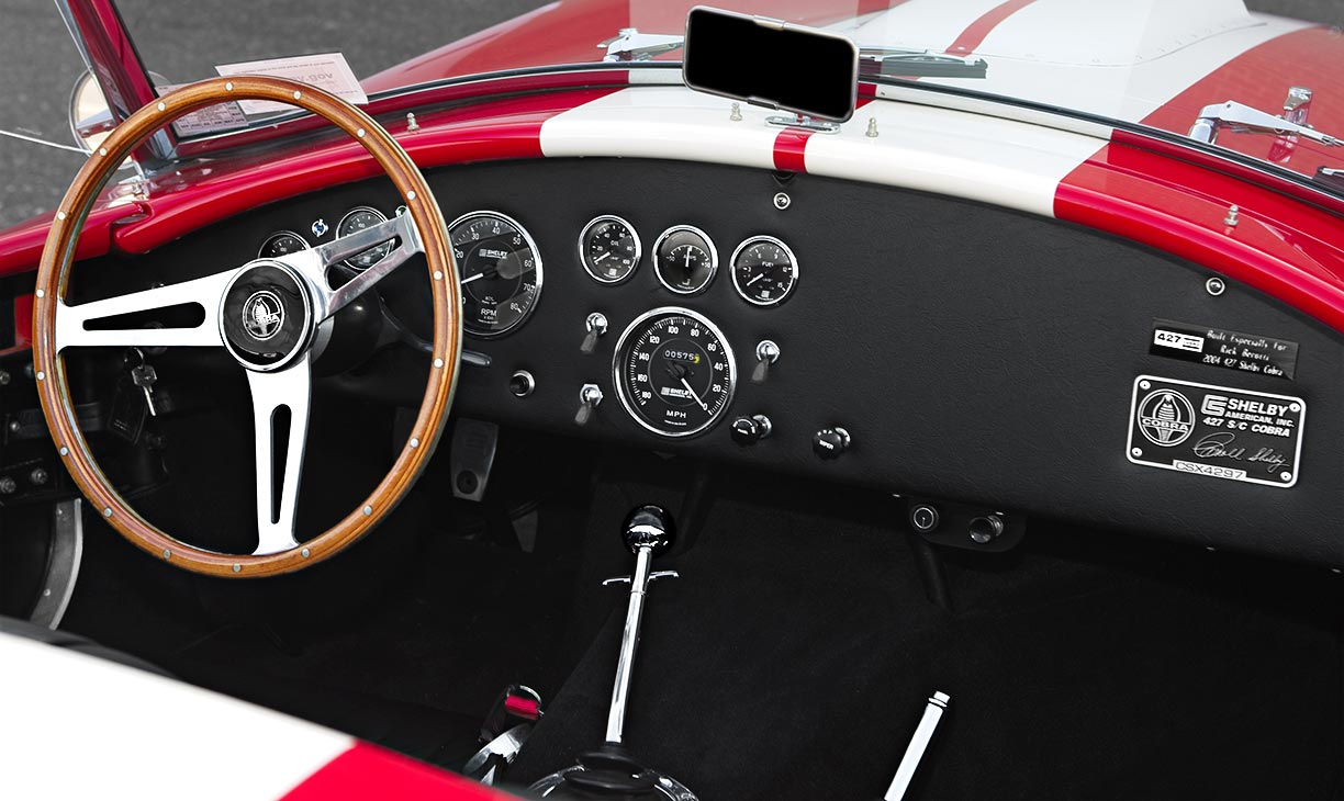 dashboard shot#1 shot of McDonald Red 427SC Shelby classic 427S/C Cobra for sale, CSX4297