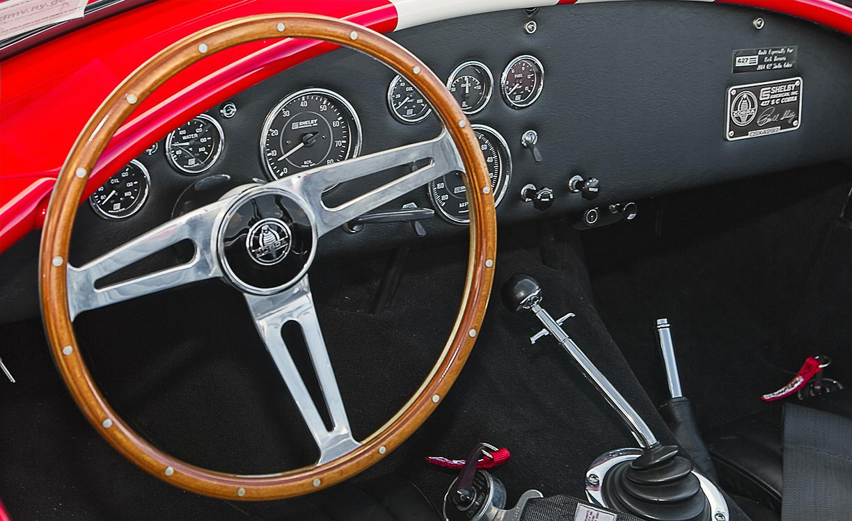 dashboard shot#2 shot of McDonald Red 427SC Shelby classic 427S/C Cobra for sale, CSX4297