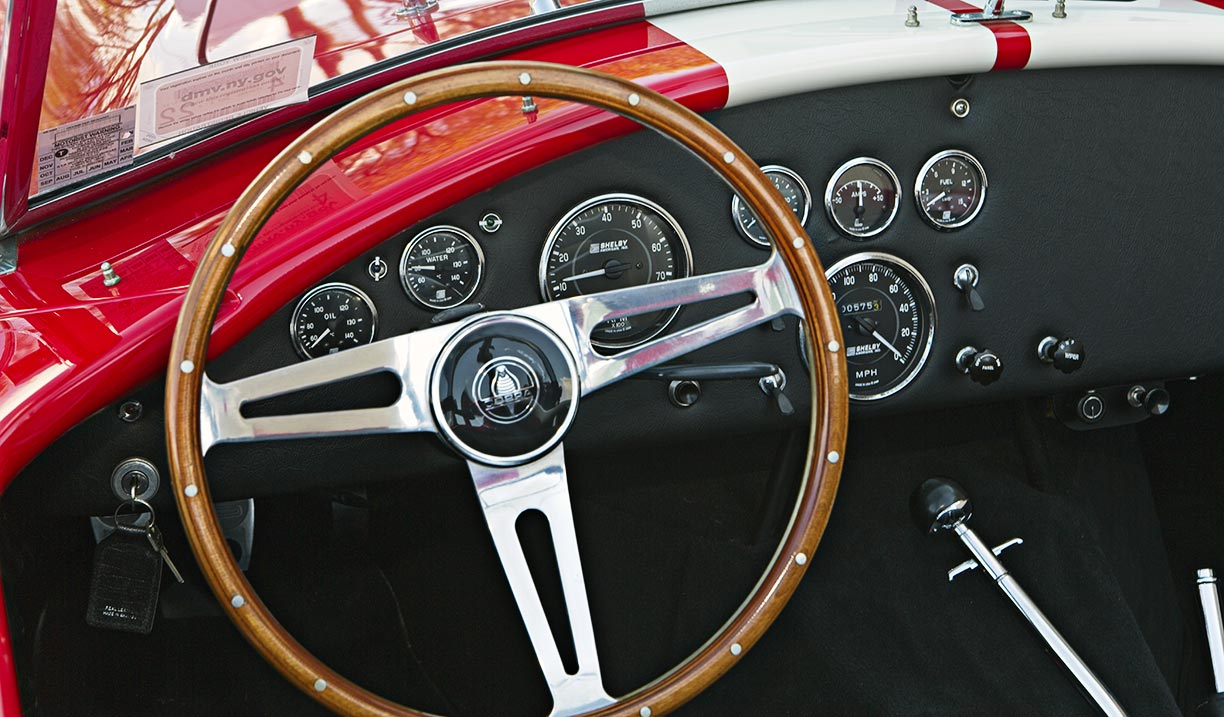 dashboard shot#3 shot of McDonald Red 427SC Shelby classic 427S/C Cobra for sale, CSX4297