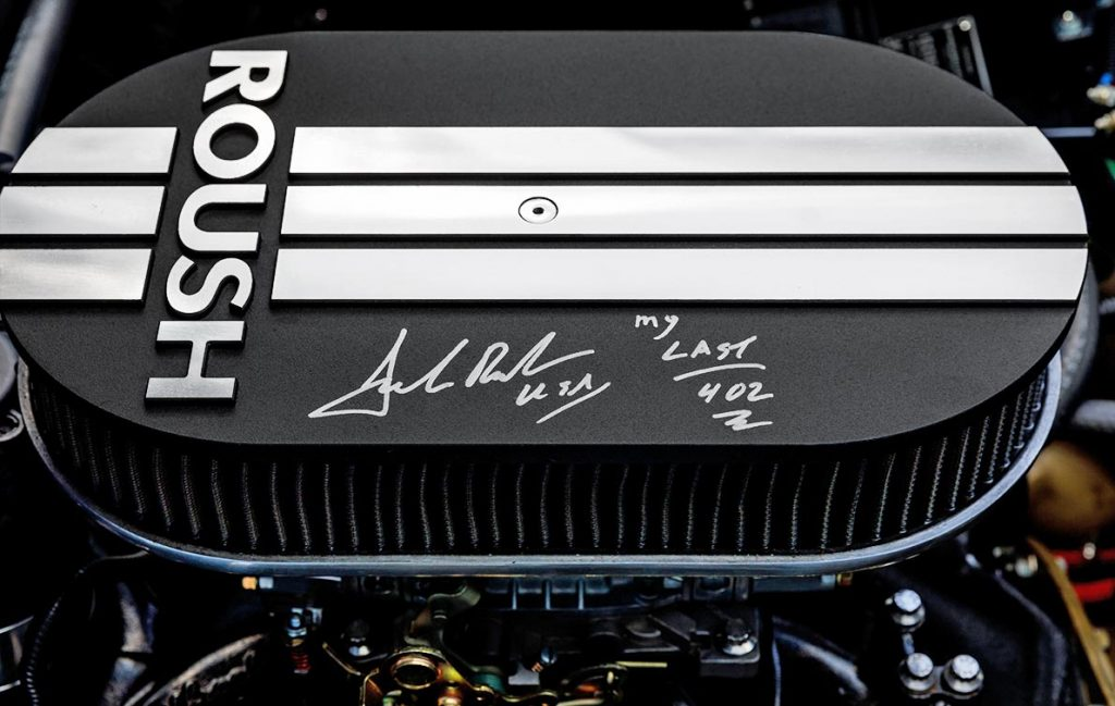 Roush air cleaner cover, autographed by Jack Roush, of Portofino Blue Superformance Shelby 427SC Cobra for sale, SPO0545