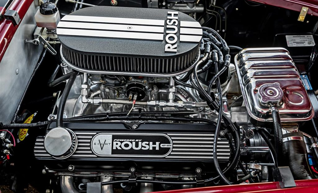 view#1 of Roush V8 engine in this Superformance Shelby 427SC Cobra for sale, SPO3054