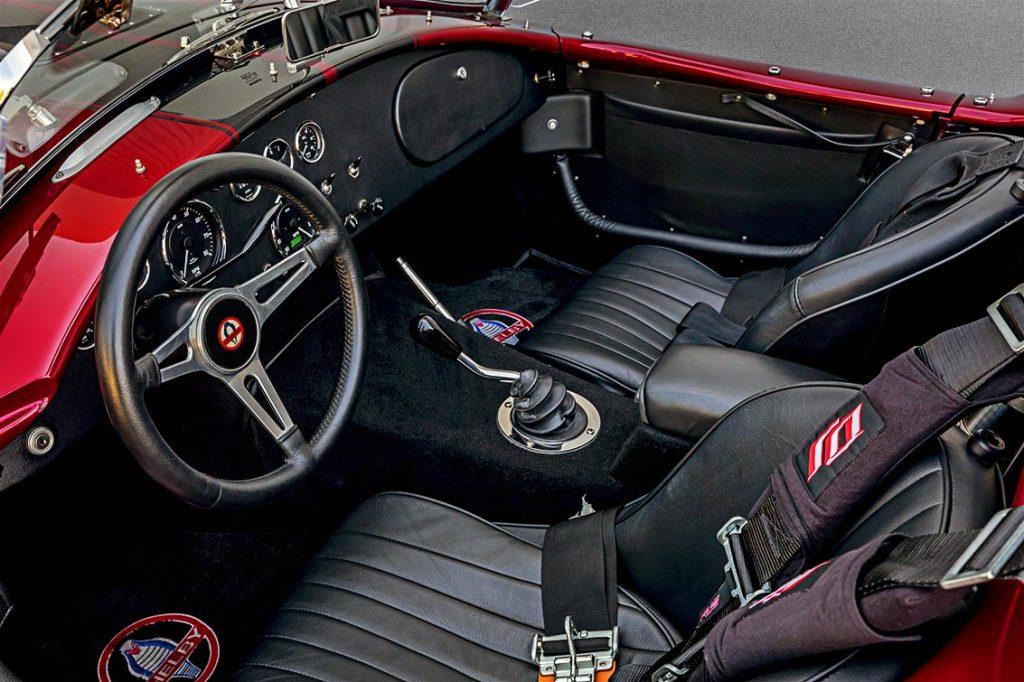 cockpit shot Nr.2 of Sunset Red Superformance Shelby 427SC Cobra