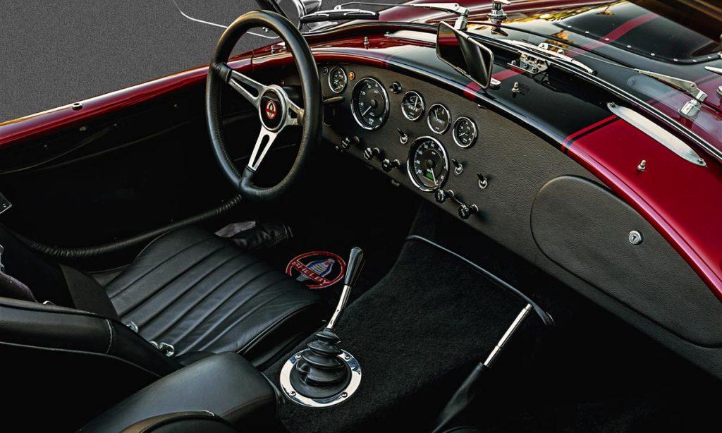 cockpit shot Nr.3 of Sunset Red Superformance Shelby 427SC Cobra