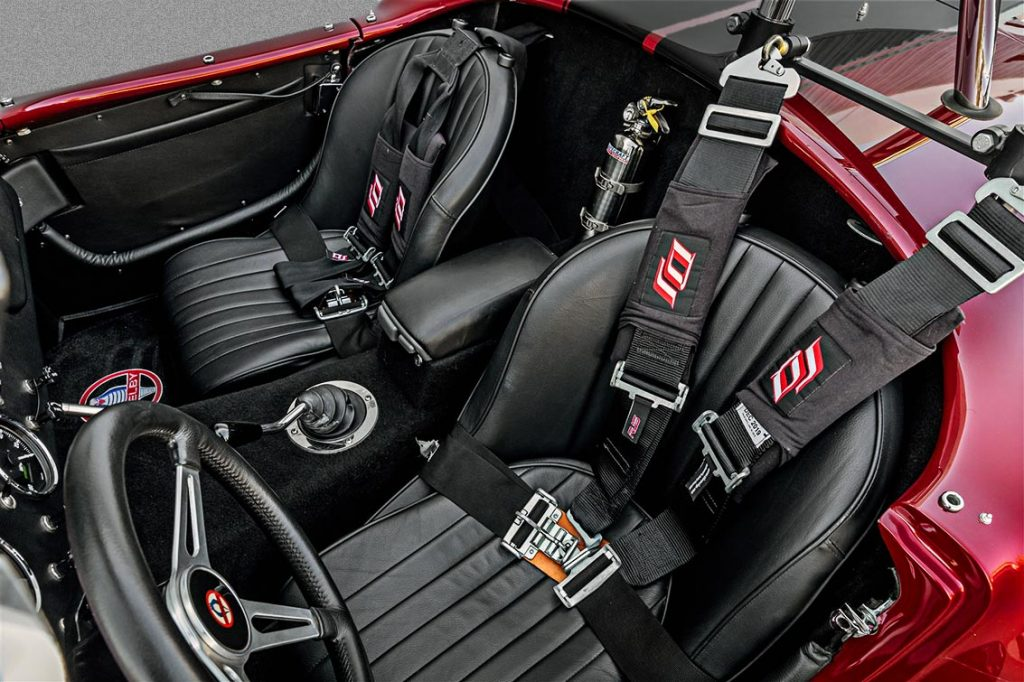 DJ Safety seats and shoulder harnesses shot of Sunset Red Superformance Shelby 427SC Cobra