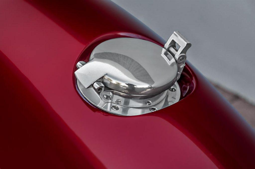 LeMans filler cap on Sunset Red Superformance Shelby 427SC Cobra for sale