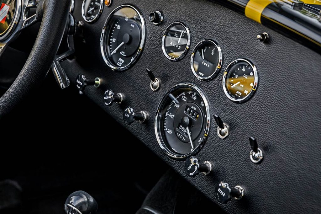 Superformance Cobra dashboard