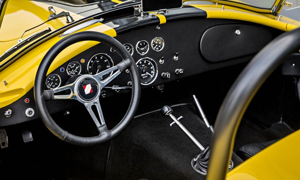 Shelby Cobra steering wheel and dash