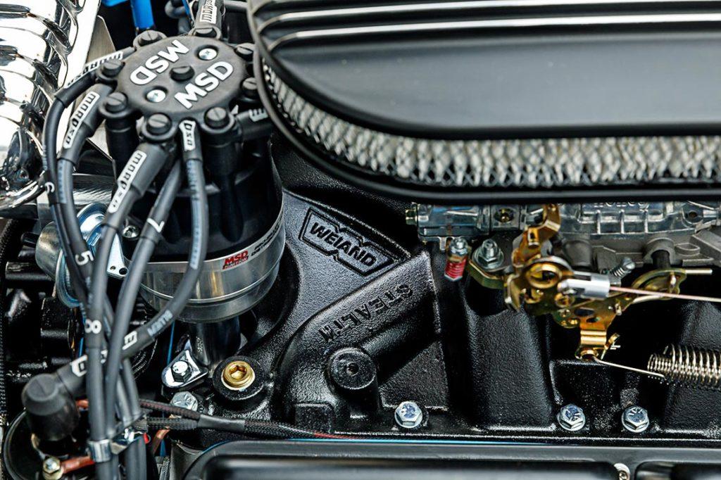 Ford 408cid Windsor stroker engine photo#4 (closeup) of black-on-black Superformance 427SC Cobra for sale, SPO3367