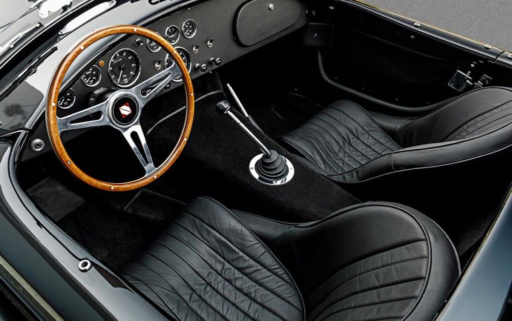 cockpit photo#2 of black-on-black Superformance 427SC Cobra for sale, SPO3367