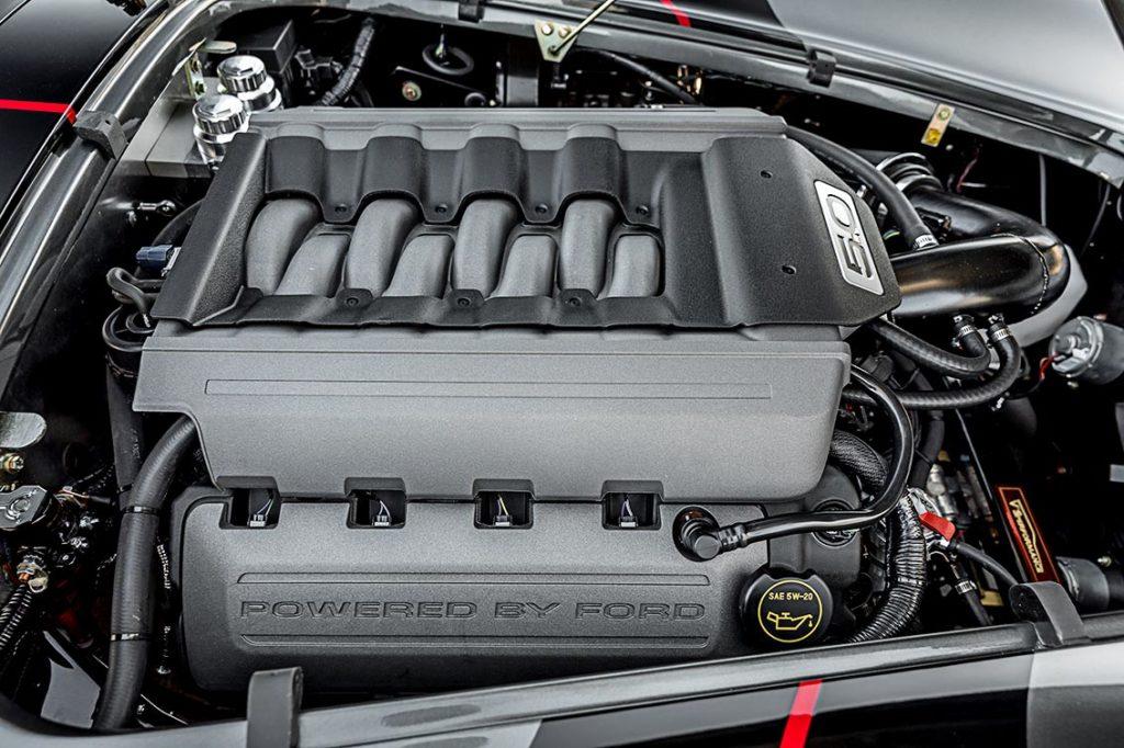 engine compartment shot#1 (passenger side angle) of Grigio Silverstone Superformance 427SC Cobra for sale, SPO3392