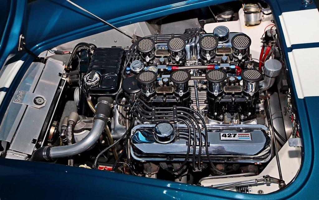 427FE side-oiler V8 photo of Guardsman Blue E.R.A. 427SC Cobra for sale, ERA#528