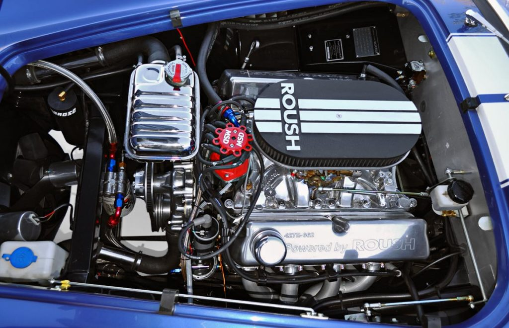 Roush engine in Guardsman Blue Superformance 427SC Cobra for sale by owner, SPO2644