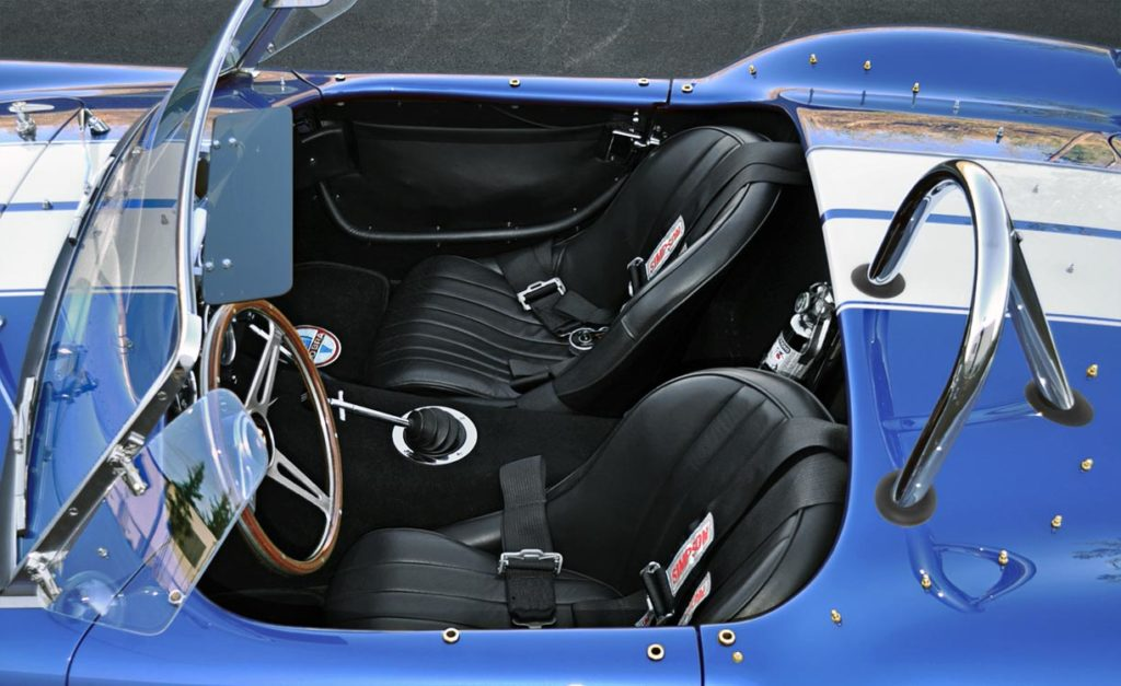 cockpit shot of Guardsman Blue Superformance 427SC Cobra for sale by owner, SPO2644
