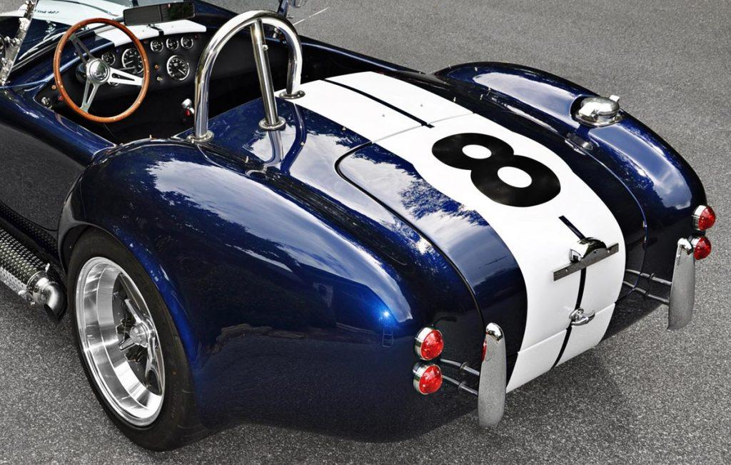 power output color graph of Indigo Blue Backdraft Racing 427SC classic Shelby Cobra for sale, BDR1199
