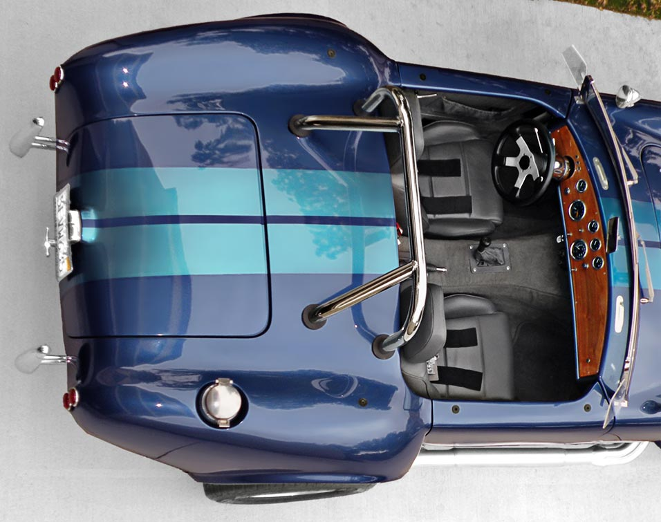 Lone Star Shelby Cobra aerial view