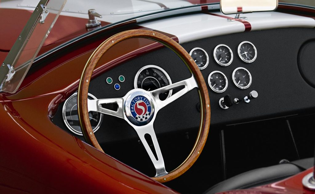 dashboard shot#1 of Ruby Red Metallic Factory Five Racing pre-owned 427SC Mk4 Shelby Cobra classic vehicle for sale