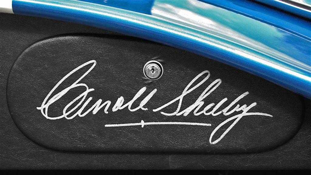 Shelby Cobra Carroll Shelby's autograph