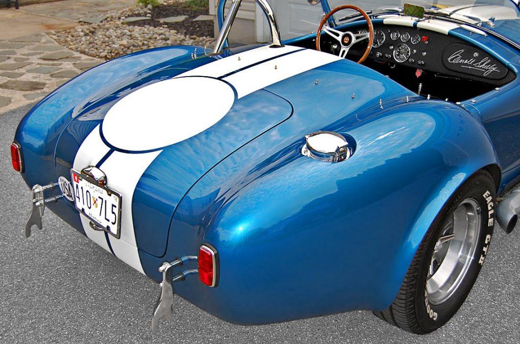 Superformance Shelby Cobra rear quarter