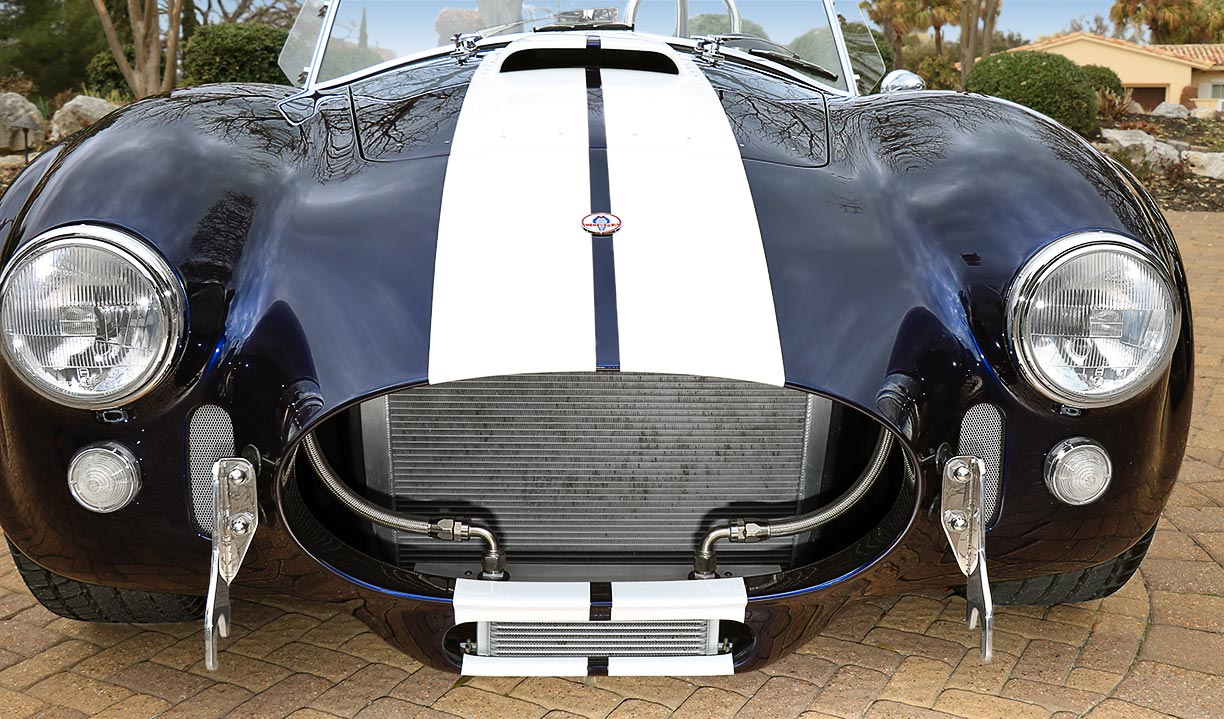 head-on frontal shot of Shelby classic Marlin Blue 427SC Superformance MkIII Cobra for sale by owner, SPO1470