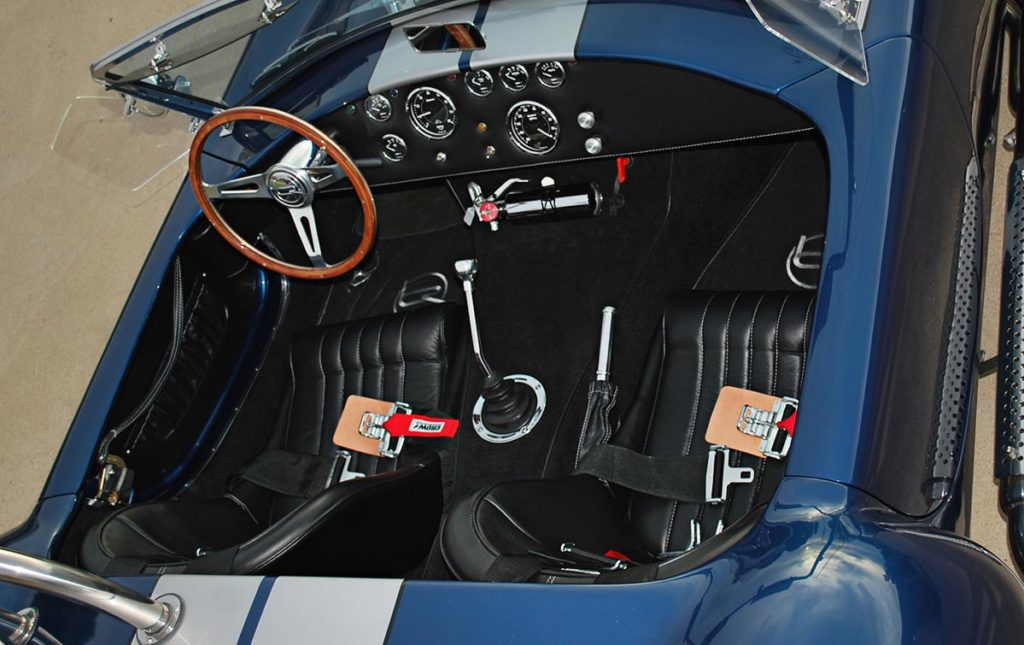 cockpit photo (from passenger side) of Backdraft Racing 427SC Shelby Cobra for sale, BDR1325