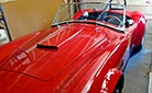 3/4-frontal thumbnail image of Guards Red Kirkham Motor Sports 289FIA Shelby classic Cobra replica for sale by owner