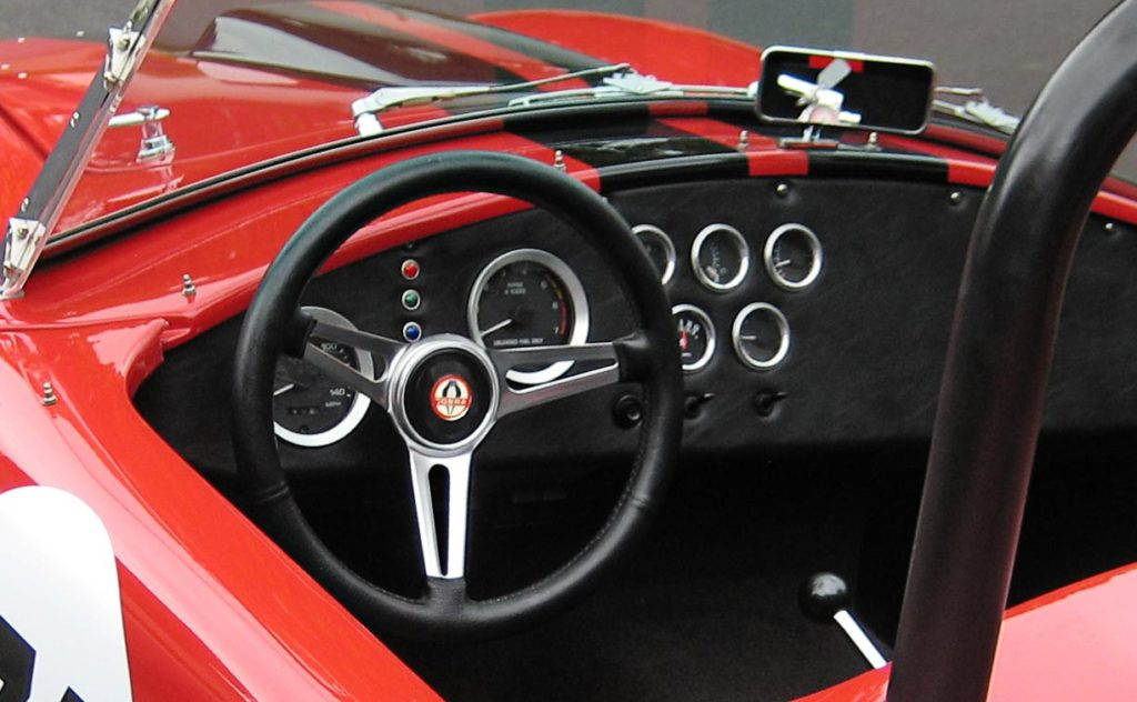 dashboard (instrument panel) photo of Ferrari Red Factory Five Racing 427SC Cobra for sale by owner