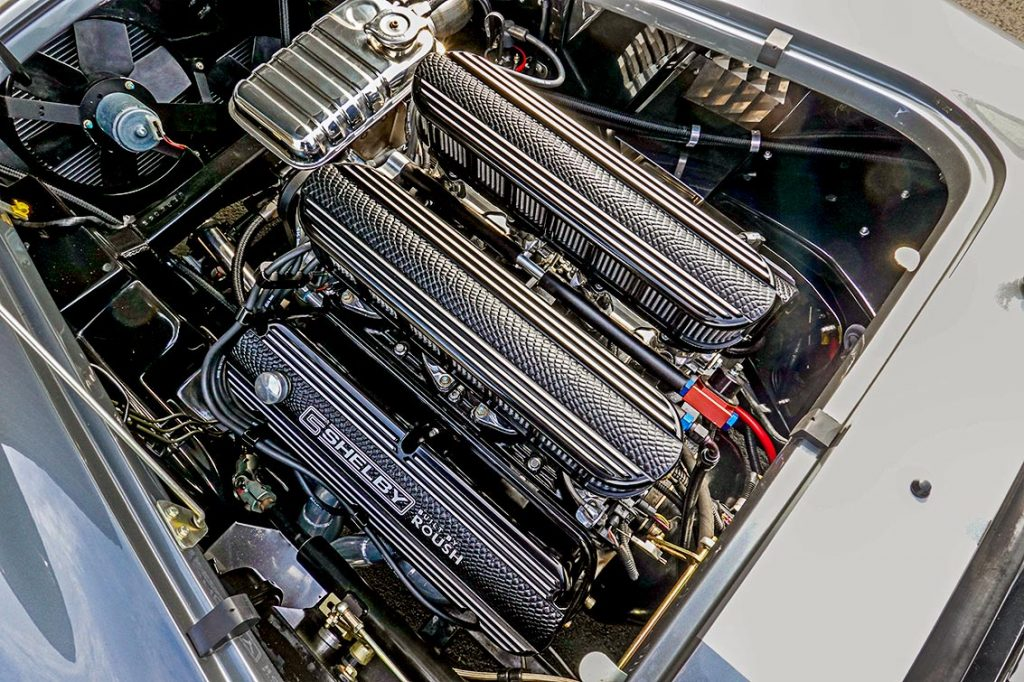 Roush 427IR engine photo#2 of Dark Silver Superformance 427SC Shelby classic Cobra for sale, SPO2938