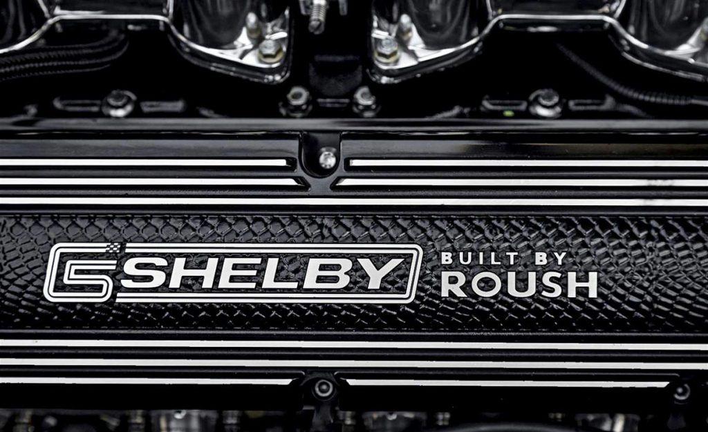 "Roush ""Shelby/Built by Roush"" premium valve cover on Dark Silver Superformance 427SC Shelby classic Cobra for sale, SPO2938"