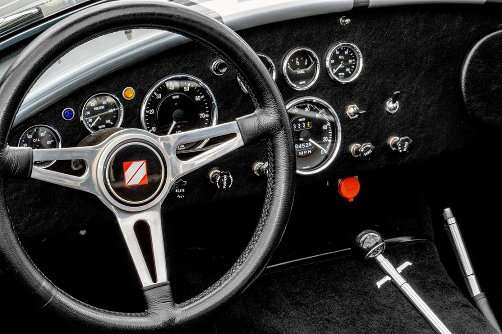 dashboard shot#2 of Dark Silver Superformance 427SC Shelby classic Cobra for sale, SPO2938