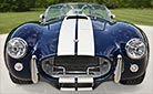 head-on frontal thumbnail image of Indigo Blue 427SC E.R.A. Shelby classic Cobra for sale, ERA#714