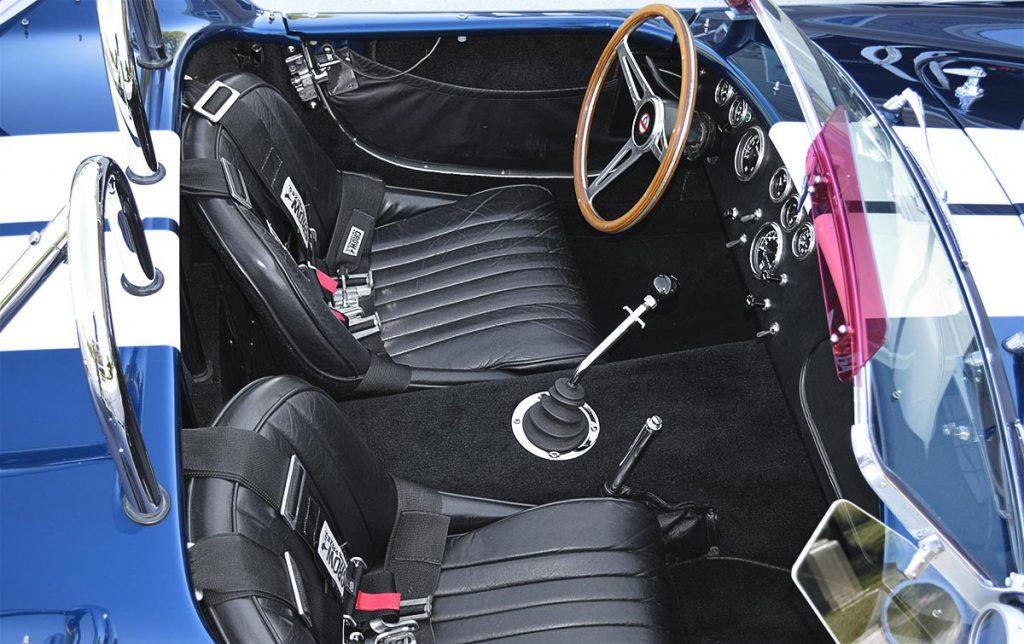 cockpit photo of Indigo Blue 427SC E.R.A. Shelby classic Cobra for sale, ERA#714