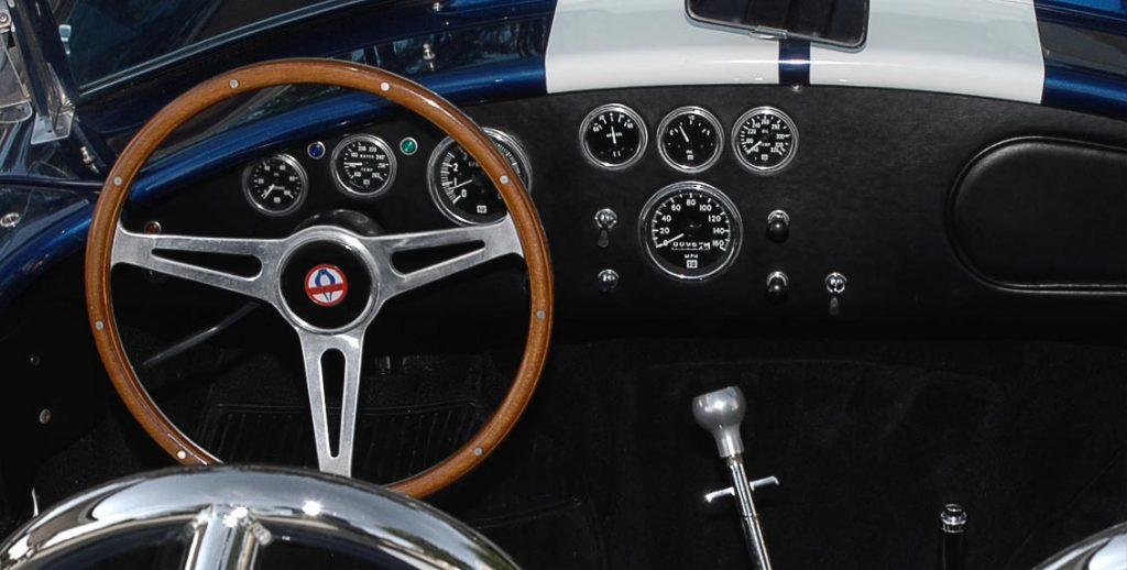 dashboard shot#1 of Indigo Blue 427SC E.R.A. Shelby classic Cobra for sale, ERA#714