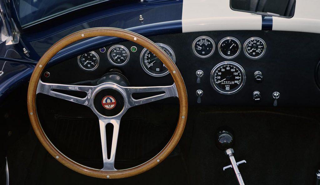 dashboard shot#2 of Indigo Blue 427SC E.R.A. Shelby classic Cobra for sale, ERA#714 dashboard shot#2 of Indigo Blue 427SC E.R.A. Shelby classic Cobra for sale, ERA#714