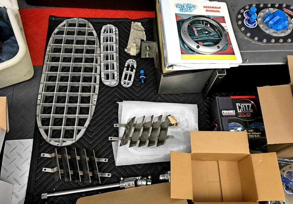 assorted component parts photo#A of uncompleted West Coast Cobra for sale, replica of classic Shelby 427 Cobra