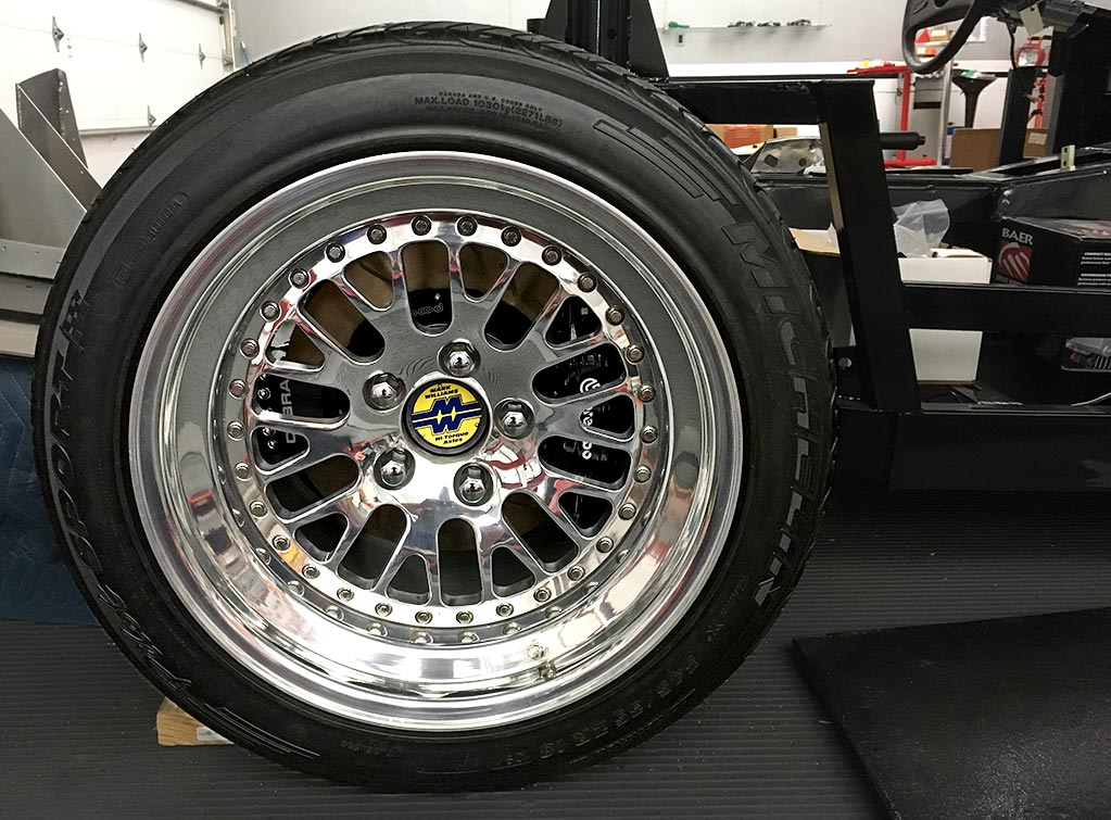 rear rolling stock (wheel & tire) for this uncompleted West Coast Cobra for sale, replica of classic Shelby 427 Cobra