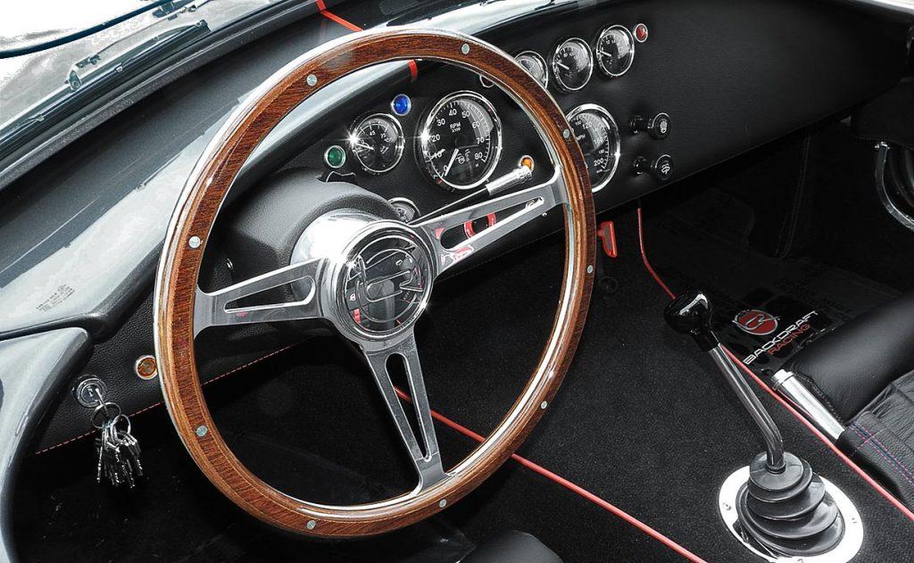 dashboard shot#1 of Magnetic Gray/black LeMans stripes 427SC Backdraft Racing (classic Cobra replica) for sale, BDR2078