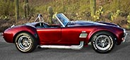 3/4-frontal thumbnail image of Candy Apple Red E.R.A. 427SC Shelby classic Cobra replica for sale