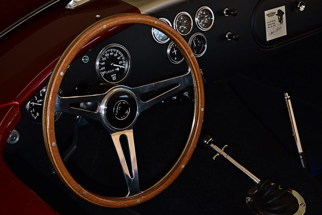 dashboard shot#2 of Candy Apple Red E.R.A. 427SC Shelby classic Cobra replica for sale